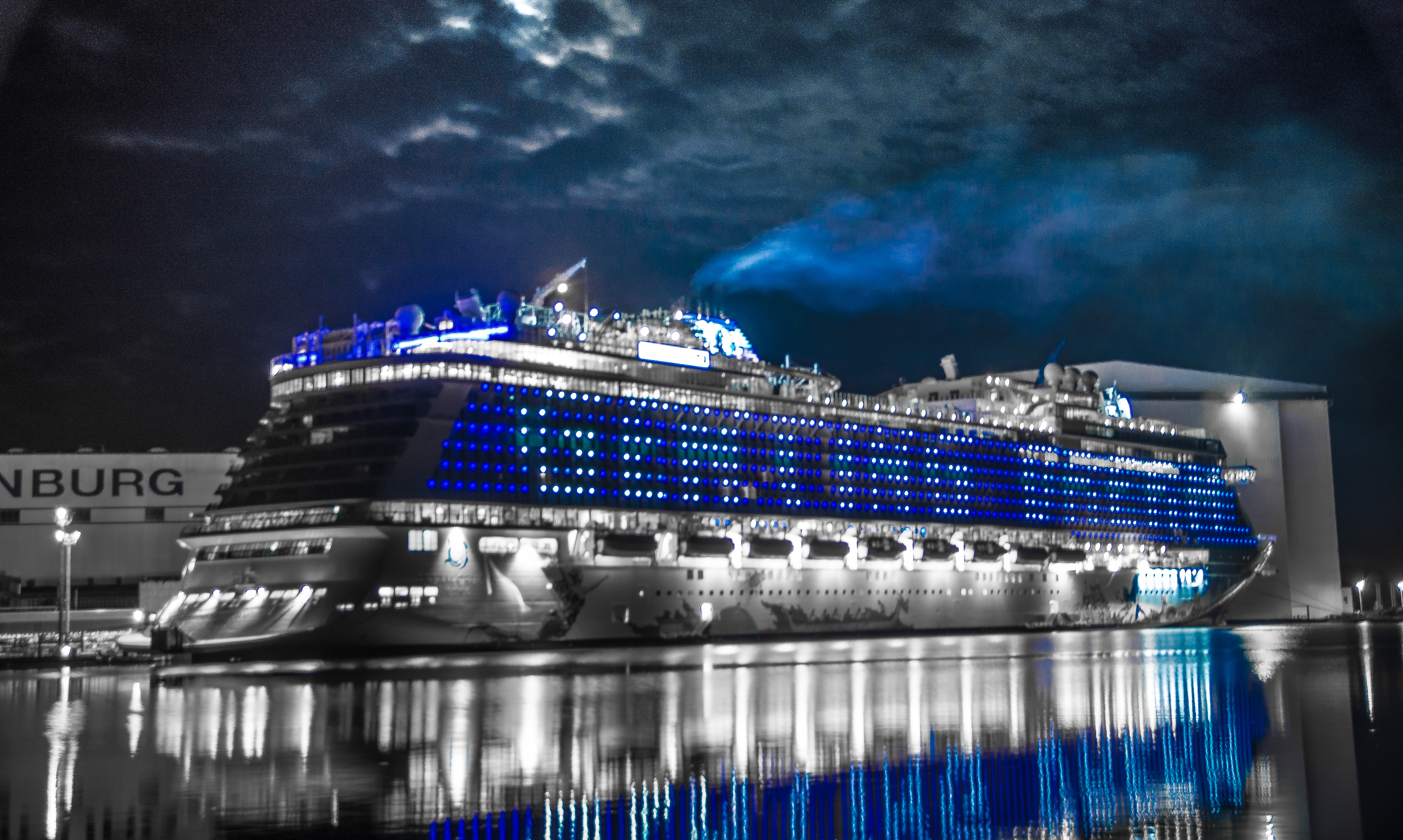 Unique dynamic lighting system by w rtsil funa creates a for High end cruise lines